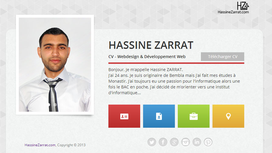 hassine zarrat  u00b7 cv  u0026gt  conception  u0026 d u00e9veloppement web